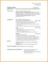 Retail Banking Resume Example Resume Samples Banking Jobs Objective For Entry Level Sample Bank
