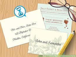 shaadi invitations 4 ways to address wedding invitations to a family wikihow