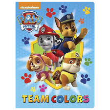 nickelodeon coloring book join the paw patrol team in this color themed book children u0027s