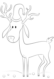 christmas reindeer coloring page free printable coloring pages