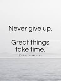 never give up picture quotes