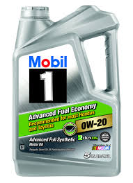 mobil 1 0w 20 advanced fuel economy full synthetic motor oil 5 qt