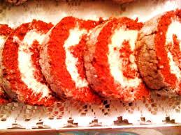 sweet tea and cornbread red velvet cake roll