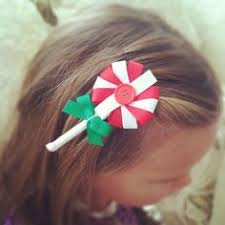 christmas hair accessories how to make lollipop candy hair bow