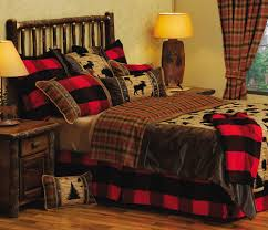 cabin themed bedroom home beds decoration
