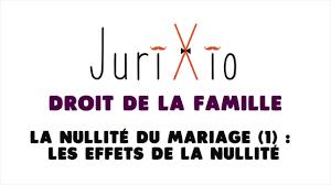 annulation de mariage quels sont les effets de l annulation du mariage