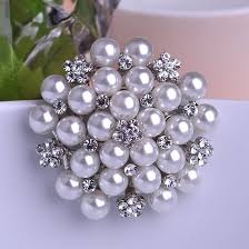 imitation pearl flower wedding brooches for women scarf hijab pins