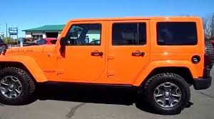 orange jeep wrangler with black rims 2013 jeep wrangler unlimited rubicon triple crush youtube