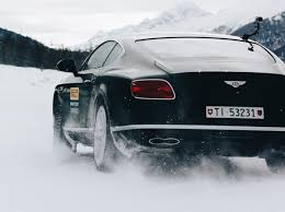 bentley snow get a grip kicking up snow with pirelli u0027s winter tire range