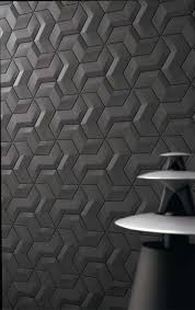 decorative 3d wall feature design featuring interlocking pattern