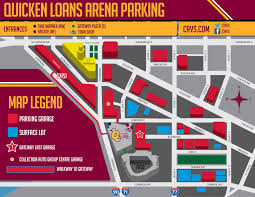 Chicago Trolley Map by Quicken Loans Arena Parking Guide Maps Rates Tips Spg