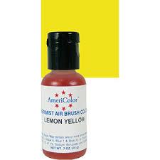 amerimist air brush color lemon yellow 7 oz