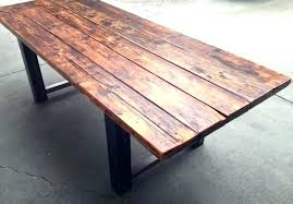 reclaimed wood table with metal legs reclaimed wood dining table metal legs luisreguero com