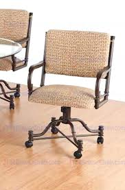 Poker Table Chairs With Casters by 43 Dining Decorating Fascinating Dining Room Chairs On Casters 7