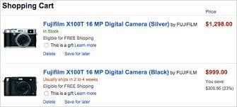 photoshop cc black friday amazon price drop the black fuji x100t camera is now 300 off on amazon