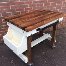 walnut breakfast bar table solid hard wood top butchers block breakfast bar table choose oak