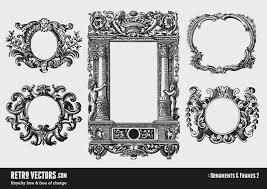 vintage ornamental and decorative frames vintage vectors