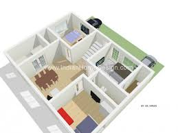 2bhk house plans 3d floor plan of 2 bhk type from m imran