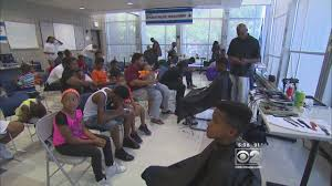 kids get free back to haircuts at chicago police station