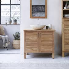 soho solo teak bathroom washstand under sink washstand tikamoon