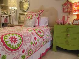 girls bedroom ideas in pink and green ideas bed decorating