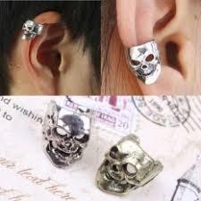 jual ear cuff skull ear cuff wrap clip earring intl daftar update harga