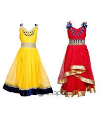 tiny toon multicolor blended pack of 2 dresses for girls buy