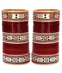 wedding chura online lucky jewellery maroon bridal punjabi choora wedding chura buy