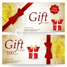 gift card company sparkling gift voucher coupon or certificate design