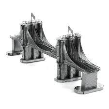 amazon com fascinations metal earth brooklyn bridge 3d metal