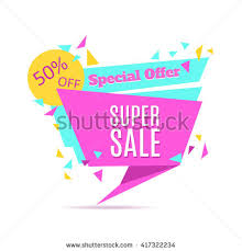 sale special offer paper banner stock vector 424591558