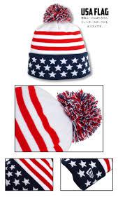 Usa Flag Cape Criminal Rakuten Global Market New Era New Era Pom Knit Cap