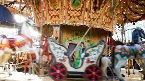 christmas carousel christmas carousel rotating with toys stock footage 21921709