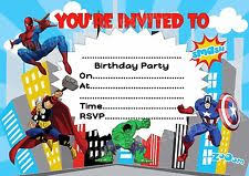 spiderman party invitations ebay