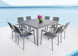 amazon com outdoor patio furniture aluminum resin 9 piece