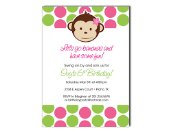 mod monkey birthday invitation on luulla