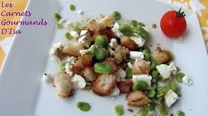 cuisiner feves recette de salade fraicheur feves et feta au cumin