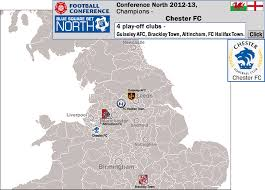 Football Conference Table And Wales Conference 2012 13 Location Map With