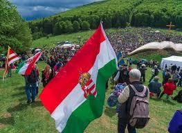 Austro Hungarian Flag A Pilgrimage In Harghita U0027s Csíksomlyó Sumuleu Ciuc Romania