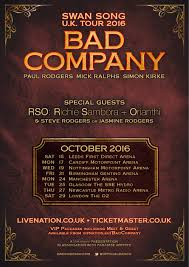 Bad Company Band Bad Company Announce U0027swan Song U0027 Uk Tour U2014 Red Guitar Music