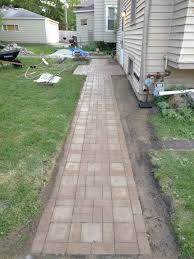french drain and paver walk entrance patio album on imgur
