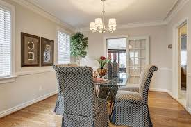 Contemporary Dining Room With French Doors  Crown Molding In - Dining room with french doors