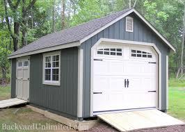 Shed Overhead Door Garages Large Storage Single Car Garages Backyard Unlimited