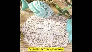 Easy Crochet Oval Rug Pattern Easy Crochet Doily Patterns Youtube