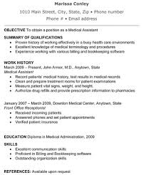 Dental Assistant Resume Skills Resume Examples Medical Assistant Resume Template Free Format