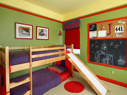 Double Bad Design Furniture Bunk Beds Amazing Kids Bedroom With Double Bed With Green