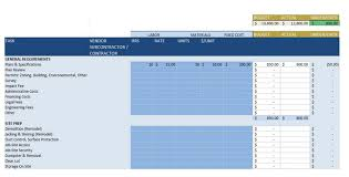 Construction Spreadsheet Templates Free 5 Of The Top Free Construction Estimate Templates Capterra