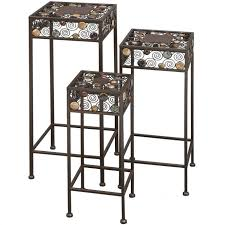 Walmart Metal Shelves by Plant Stand Vintage 3tier Metal Shelves Flower Pot Plant Stand