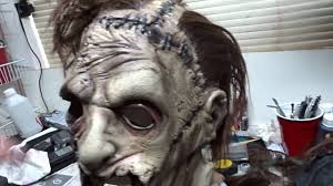 rubies halloween 5 mask rubie u0027s leatherface deluxe mask unboxing and modification youtube