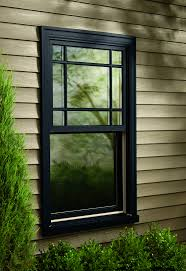 exterior dark grey siding and white exterior window trim ideas